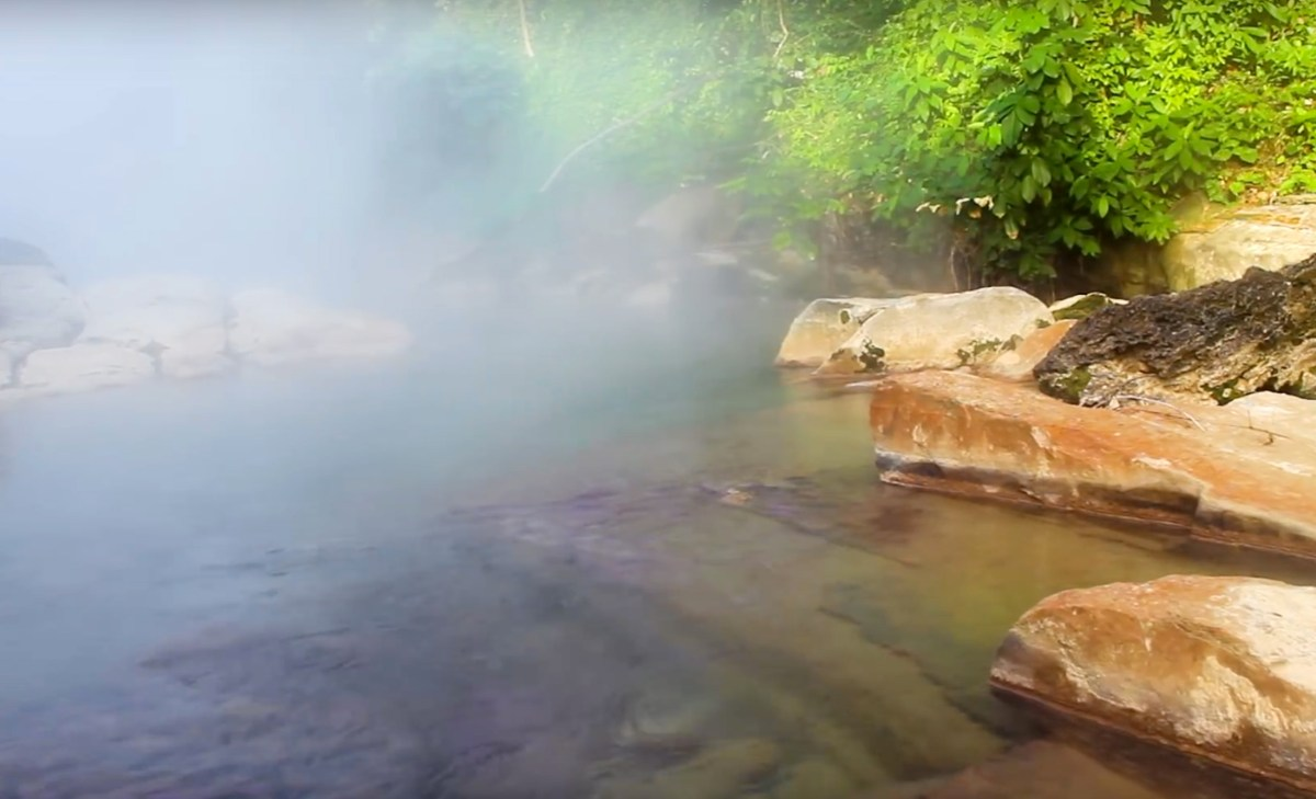 boiling river moss and fog cover