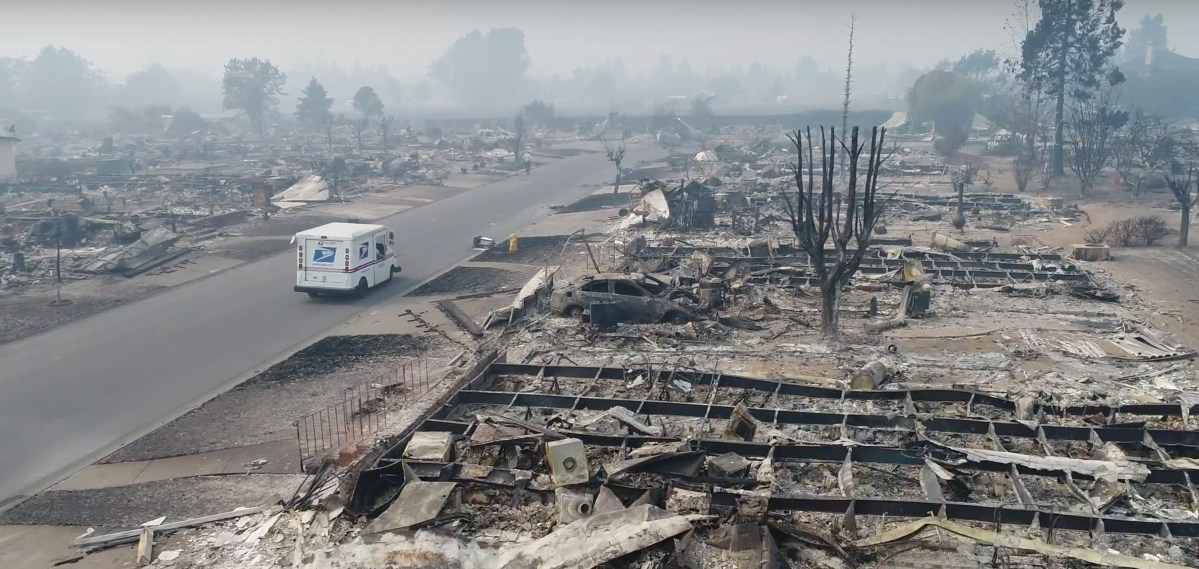 Heartbreaking Footage of Mailman Delivering to Fire Ravaged Santa Rosa