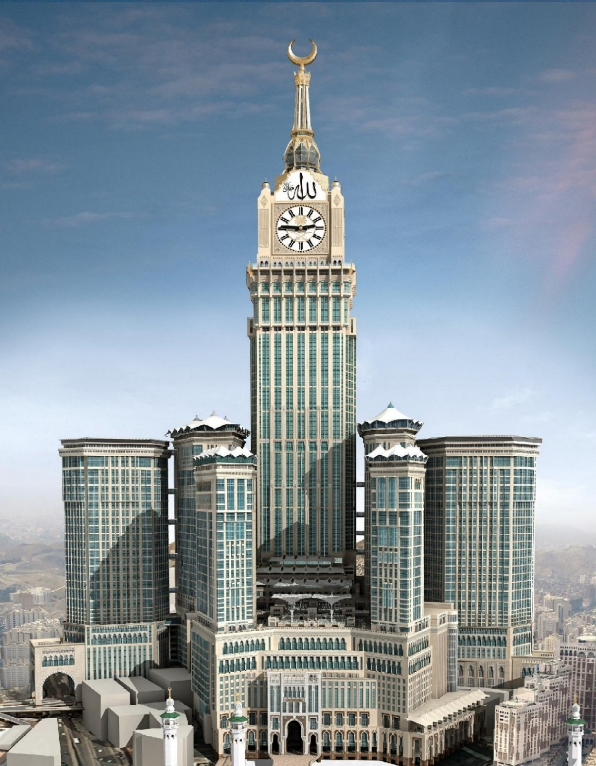 worlds tallest skyscrapers moss and fog Abraj Al-Bait Clock Tower