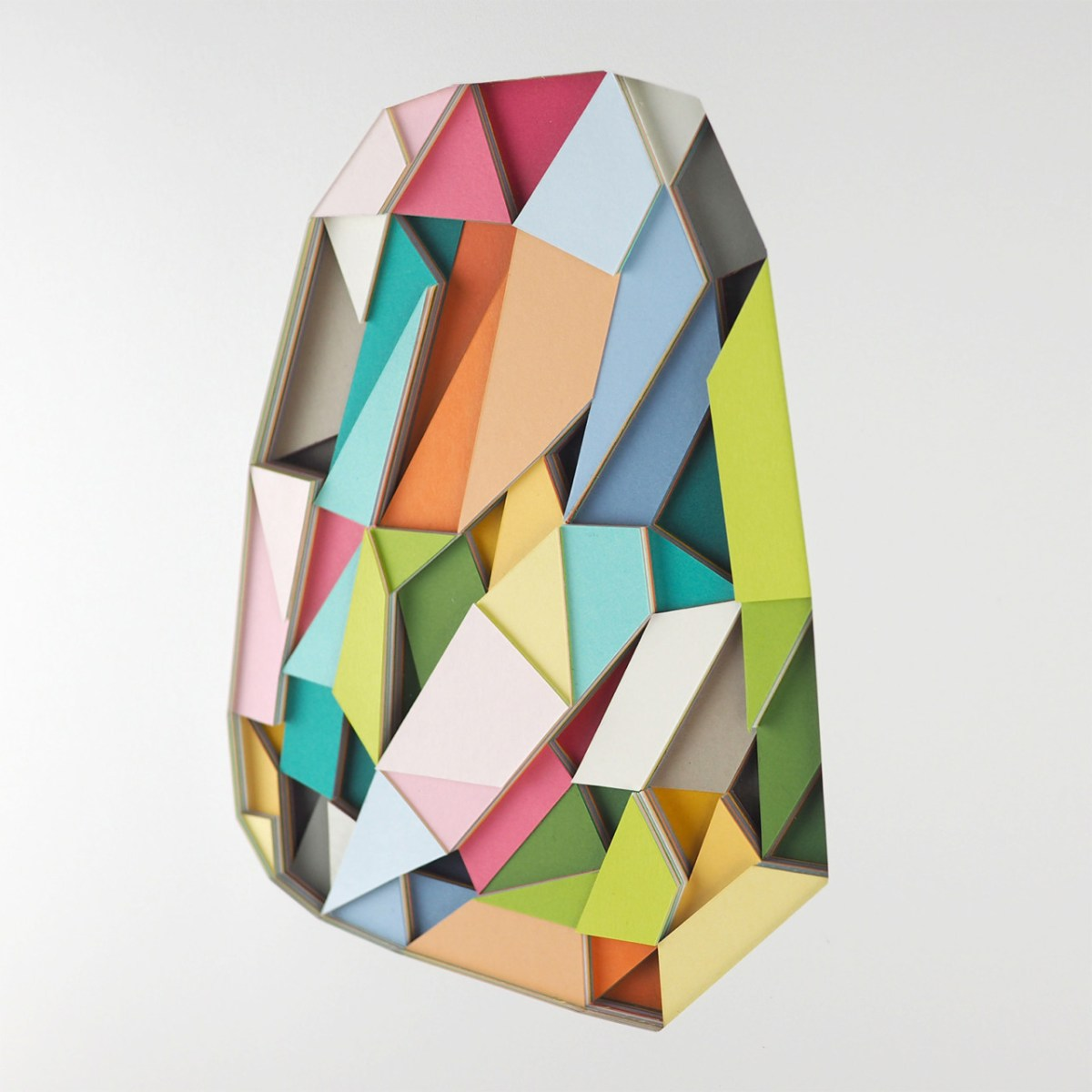 Colorful, Dimensional Cut Paper Art