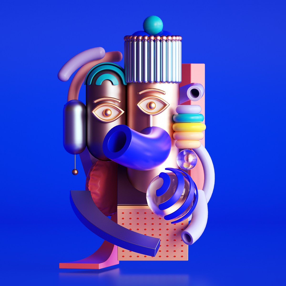 Fun, Bright 3D Character Design Inspired by Picasso