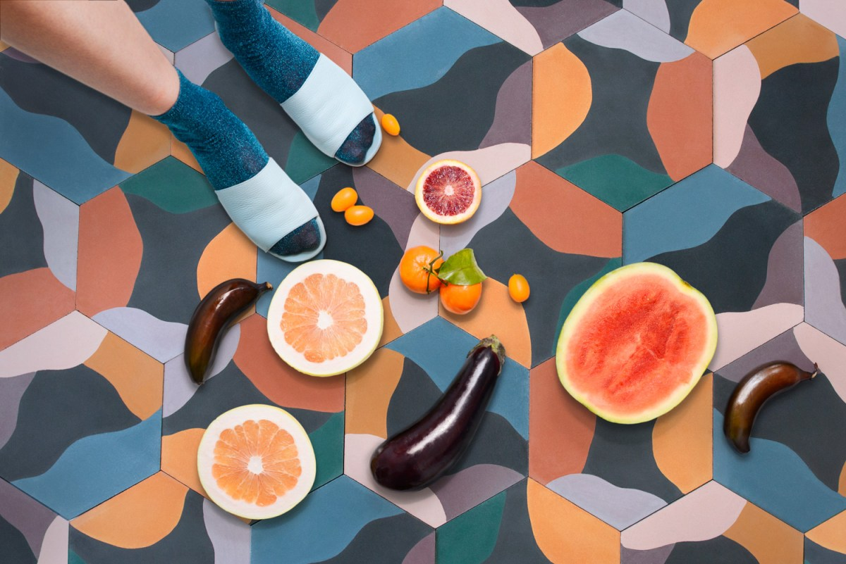'Fruit Salad' Handmade Tiles