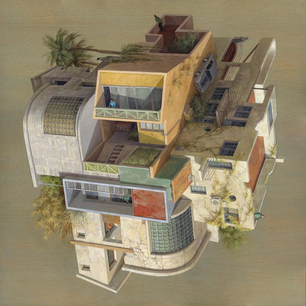 cintavidal03_URBAN-80x80cm-Oilonwoodpanel-ViewPoints-ThinkspaceGallery-sept2018-LR-1024x1024
