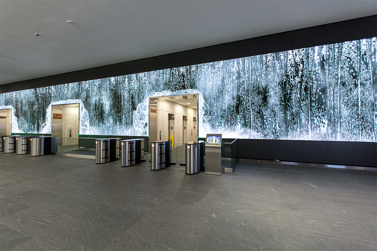 Stunning Salesforce Lobby Video Wall