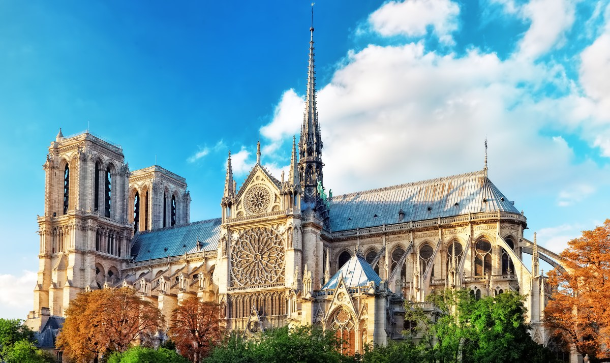 Notre Dame de Paris Cathedral.Paris.