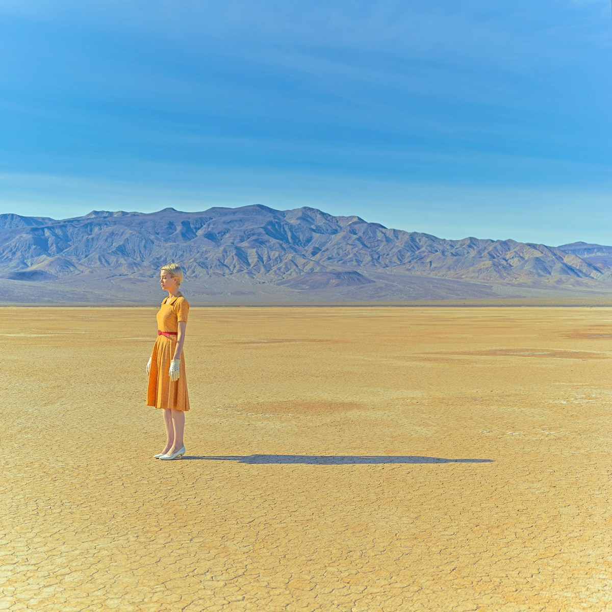 lady in the desert