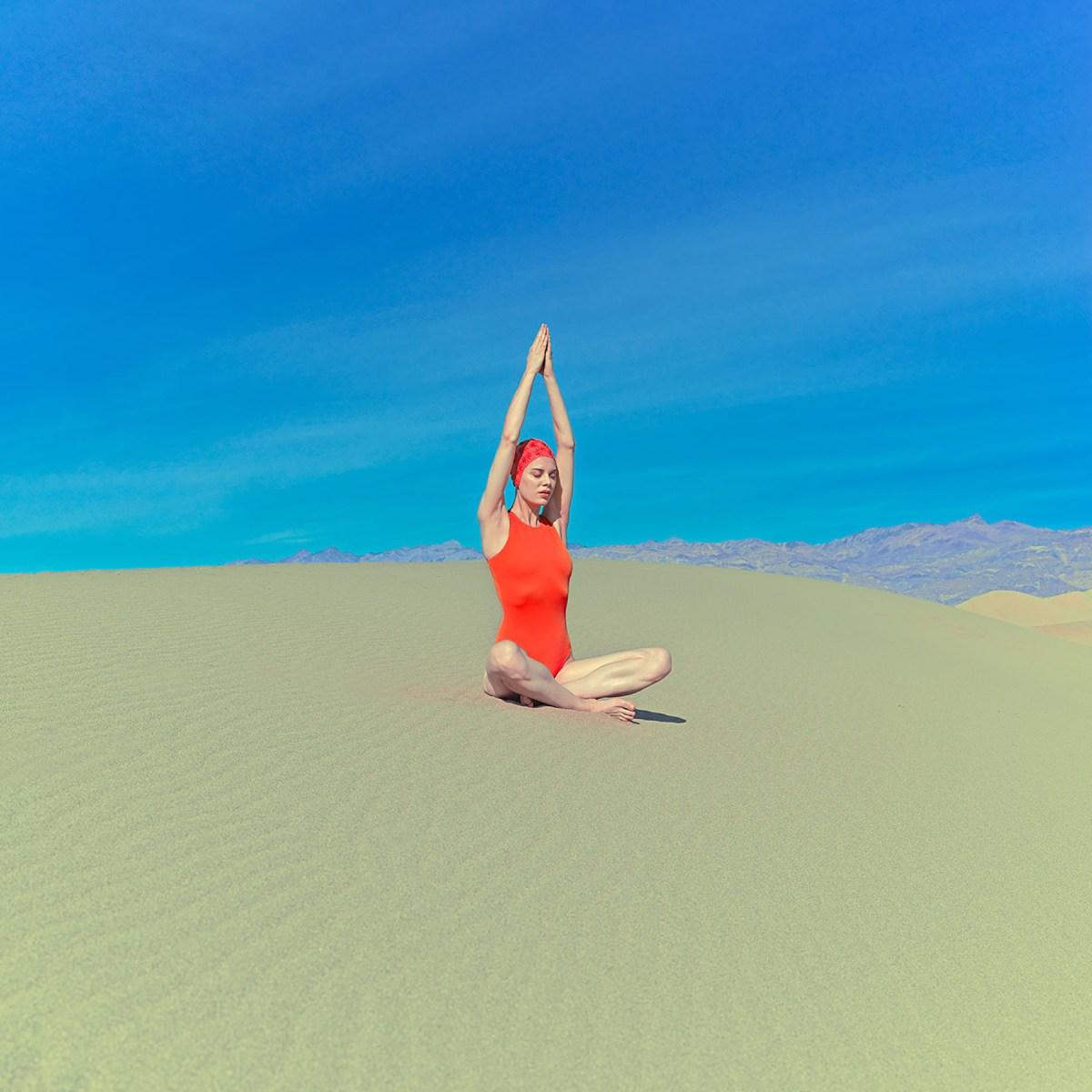 swimmers in the desert