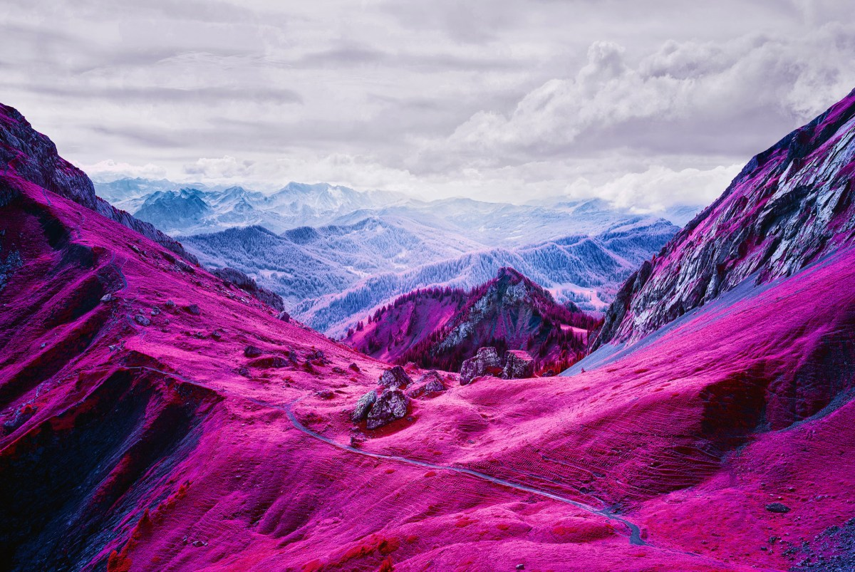 Swiss Alps in stunning infrared