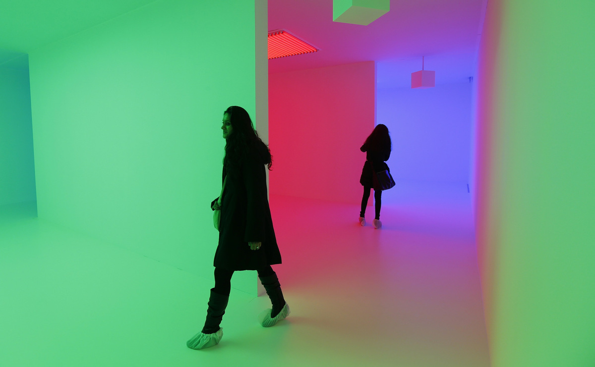 """Chromosaturation"" by Carlos Cruz-Diez"