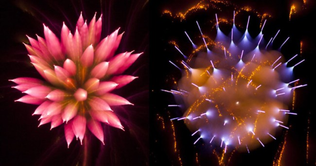 fireworks long exposure