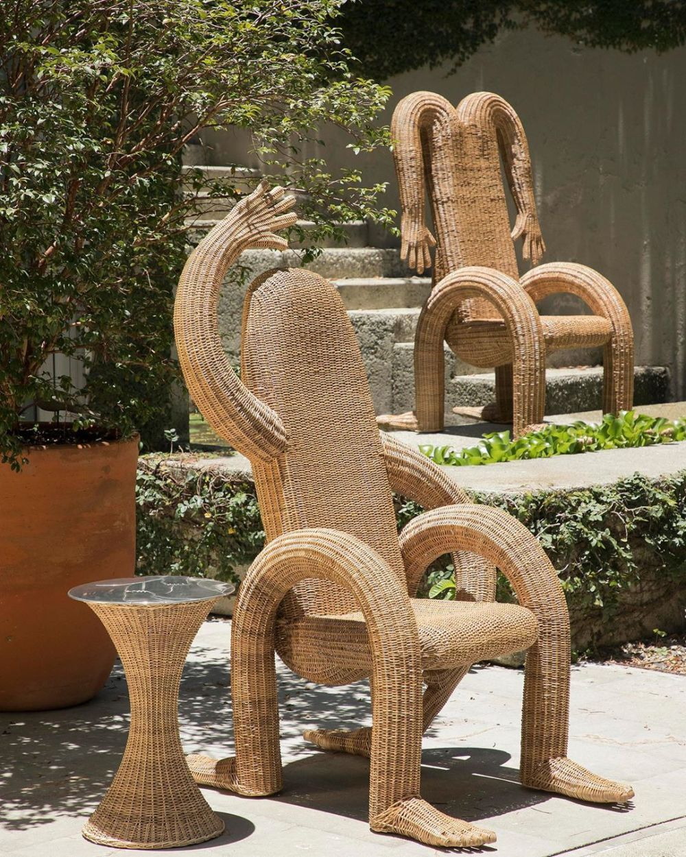 funny wicker furniture with arms and legs
