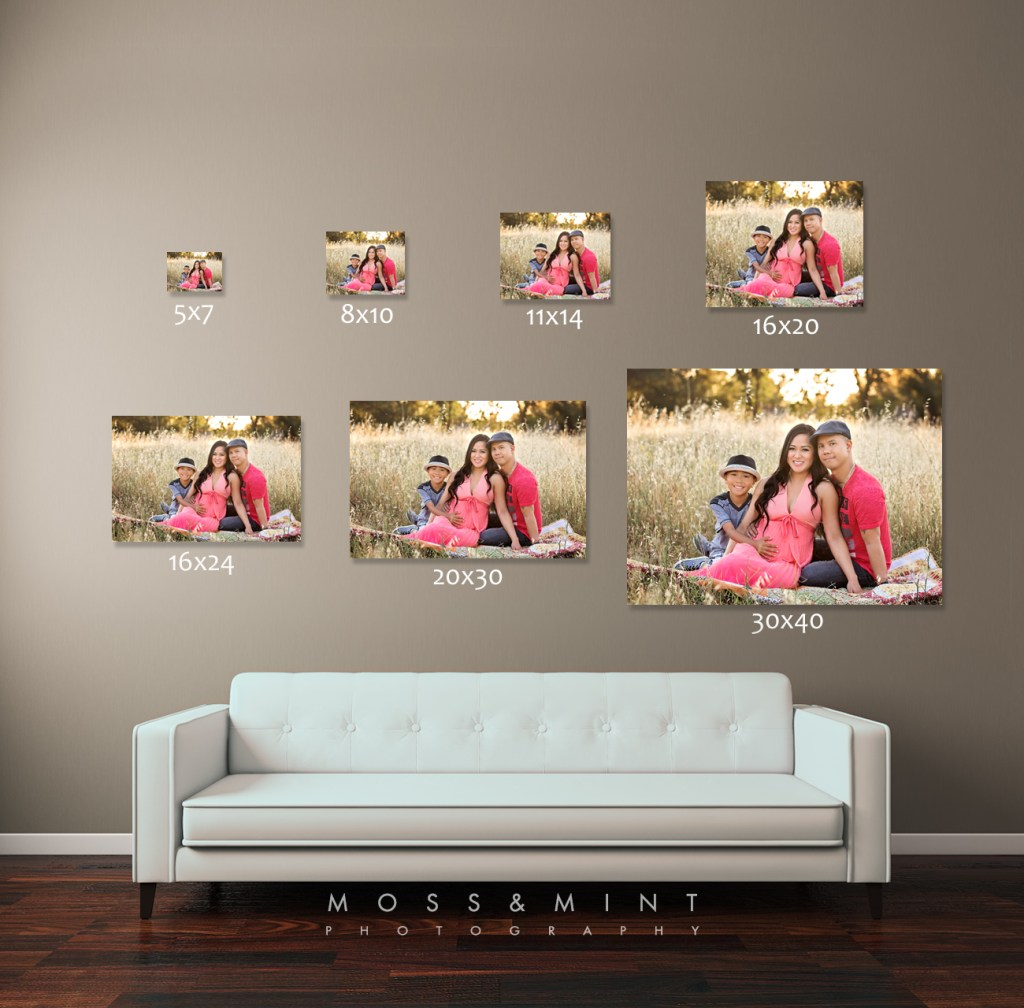 prints and digital images sizing comparison, prints and digital images, print products, quality prints, rocklin family photographer, roseville family photographer