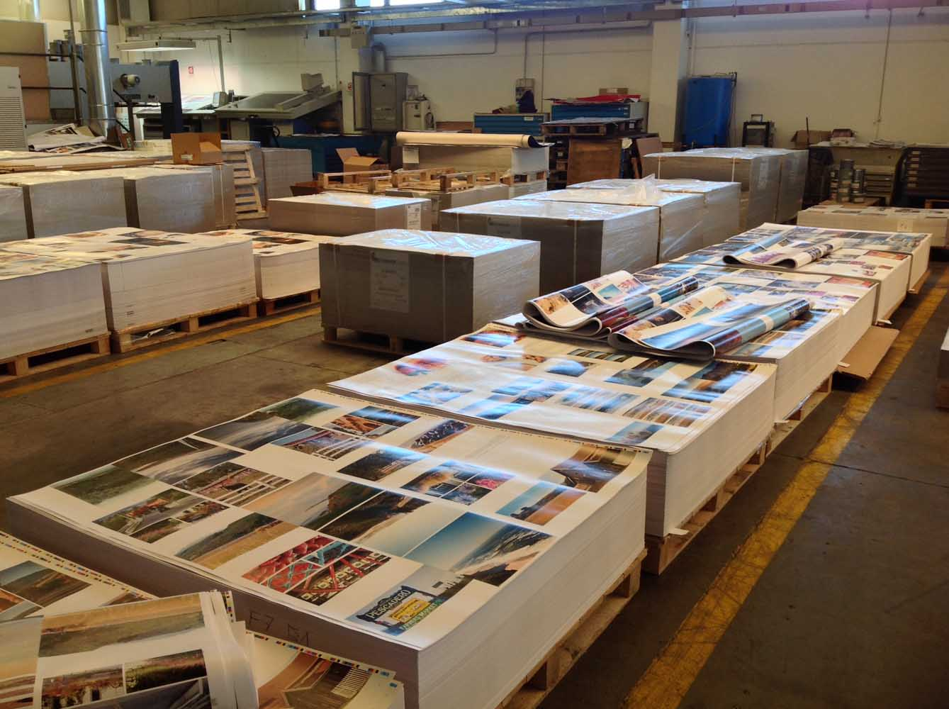 Pages of Book on the printing floor