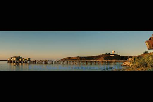 """Old Pier at Pillar Point (36""""x24""""; Silver Satin) Complete photo Special Collector's Item - by Special Request"""