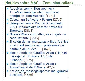 Finestra CoRank