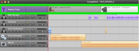 Podcasting - Garageband - Podcast Track