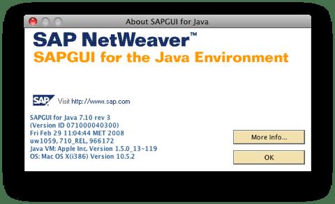 SAPGUI for Java