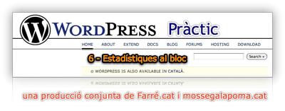 WordPress pràctic 6 – Estadístiques al bloc