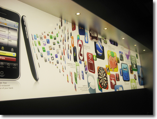 Aplicacions sortint de l'iPhone a l'Apple Store de NY