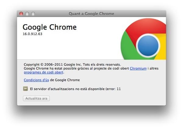 Com corregir error actualització Google Chrome – Error 11