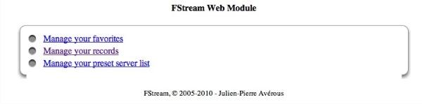 FStream Web Management