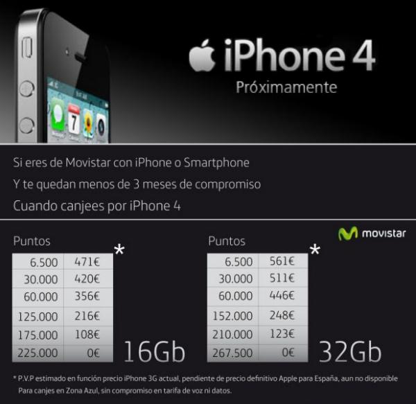 iPhone 4 a Movistar per clients