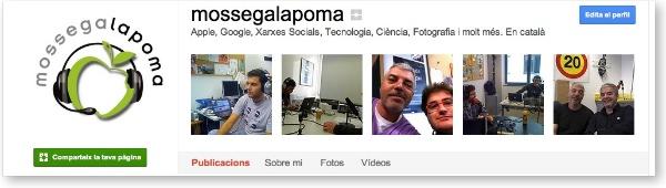 Mossegalapoma a Google+