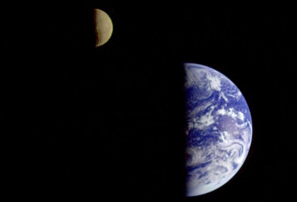 Sistema Terra-Lluna - foto original de la nasa