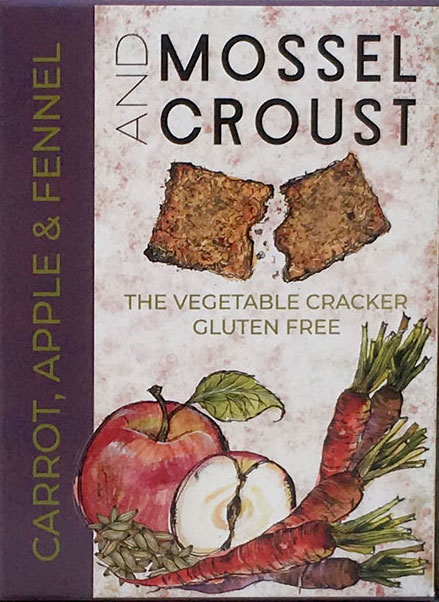 Carrot, Apple and Fennel crackers