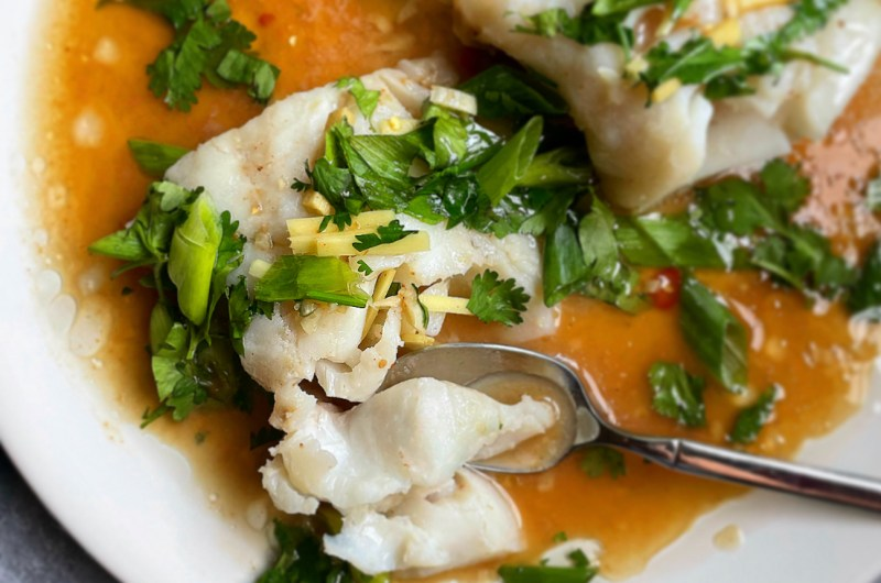 Steamed Fish with Tamarind Nuoc Cham