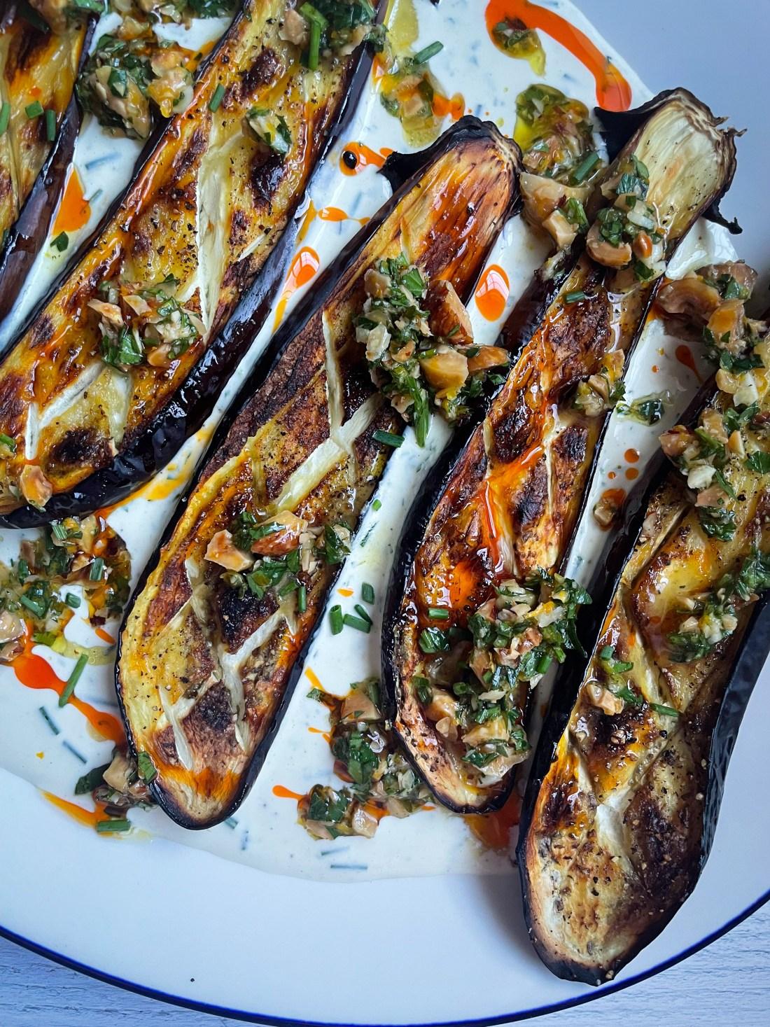 roasted eggplants
