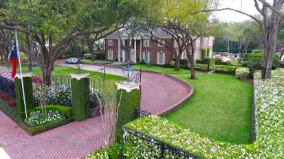 Georgian Estate Gardens  River Oaks, Houston