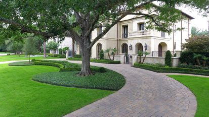 Modern Mediterranean Landscape    Tanglewood, Houston