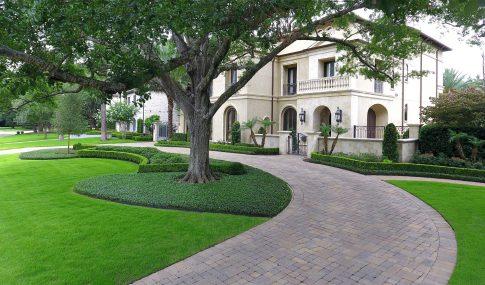 Modern Mediterranean Landscape Tanglewood Houston Moss Landscaping