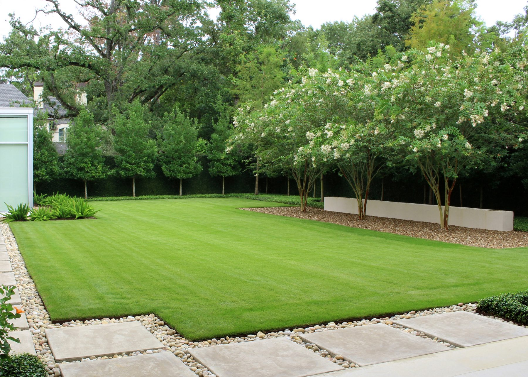 Modern Serenity Gardens Backyard Moss Landscaping