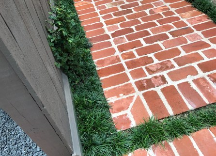 Brickwork and new landscaping