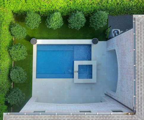 Drone Shot of Pool