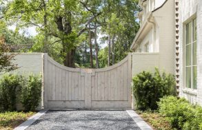 Black Star Gravel Driveway with Gate