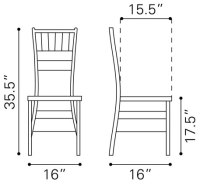 dining chair dimensions - 28 images - dining chair ...