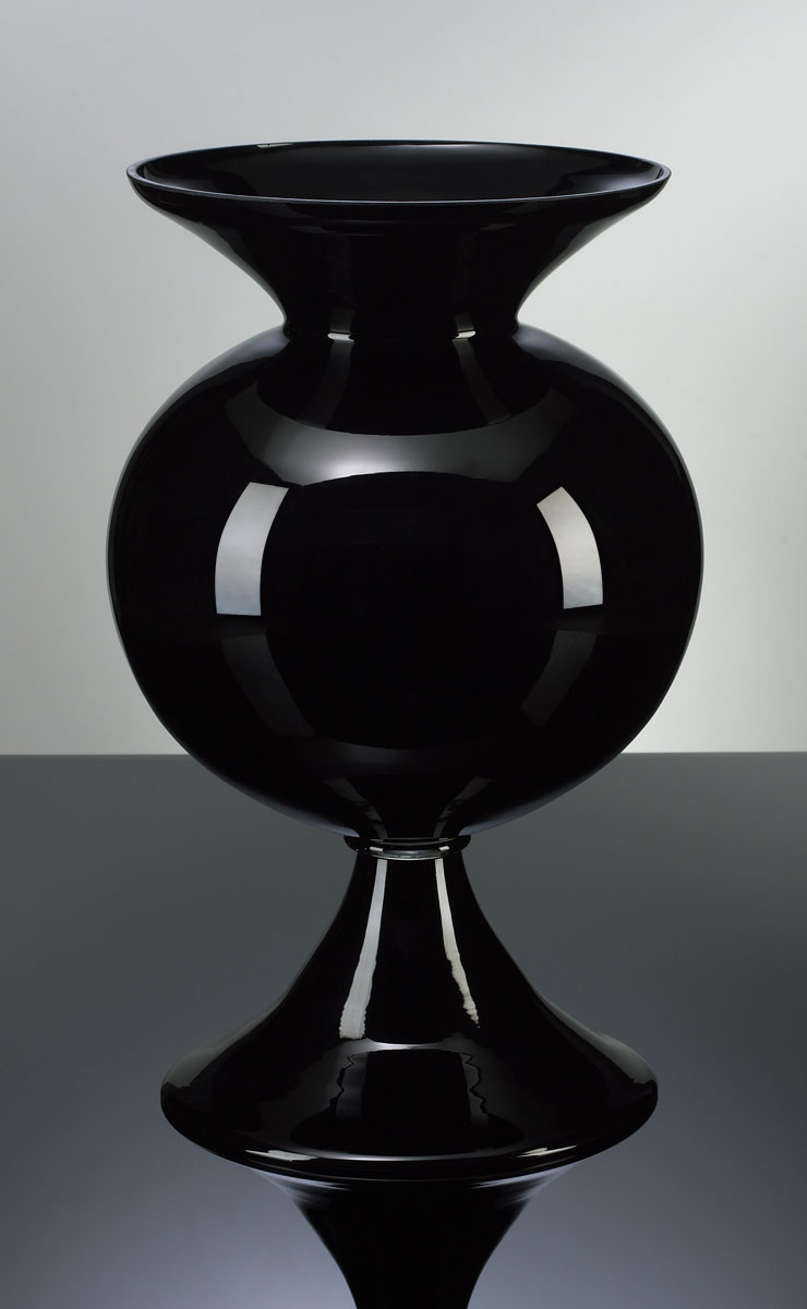 Black Fish Bowl Vase  MOSS MANOR A Design House