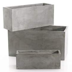Heavy Duty Kitchen Chairs Cheap Makeover Newport Rectangular Concrete Planter | Moss Manor