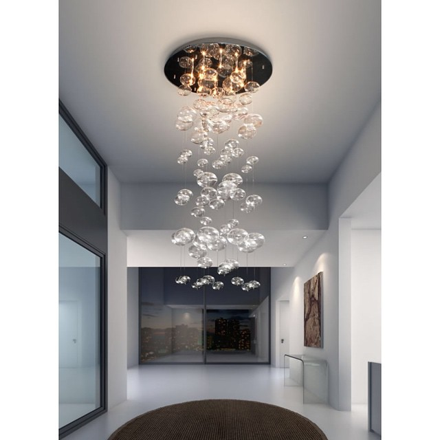 Statement Lighting Inertia Glass Ceiling Light MOSS