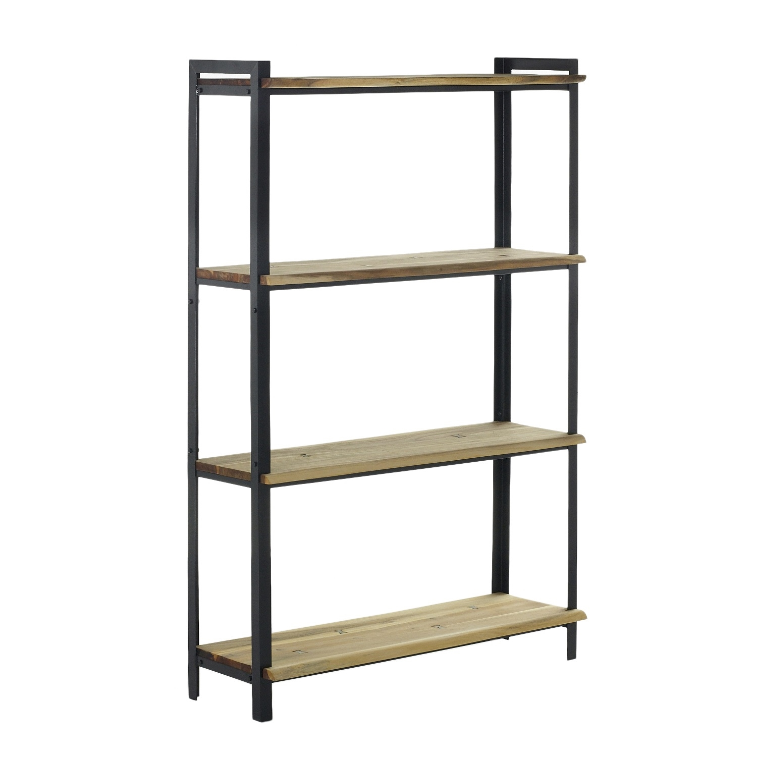 Parksdale Acacia Wood And Metal Frame Shelf