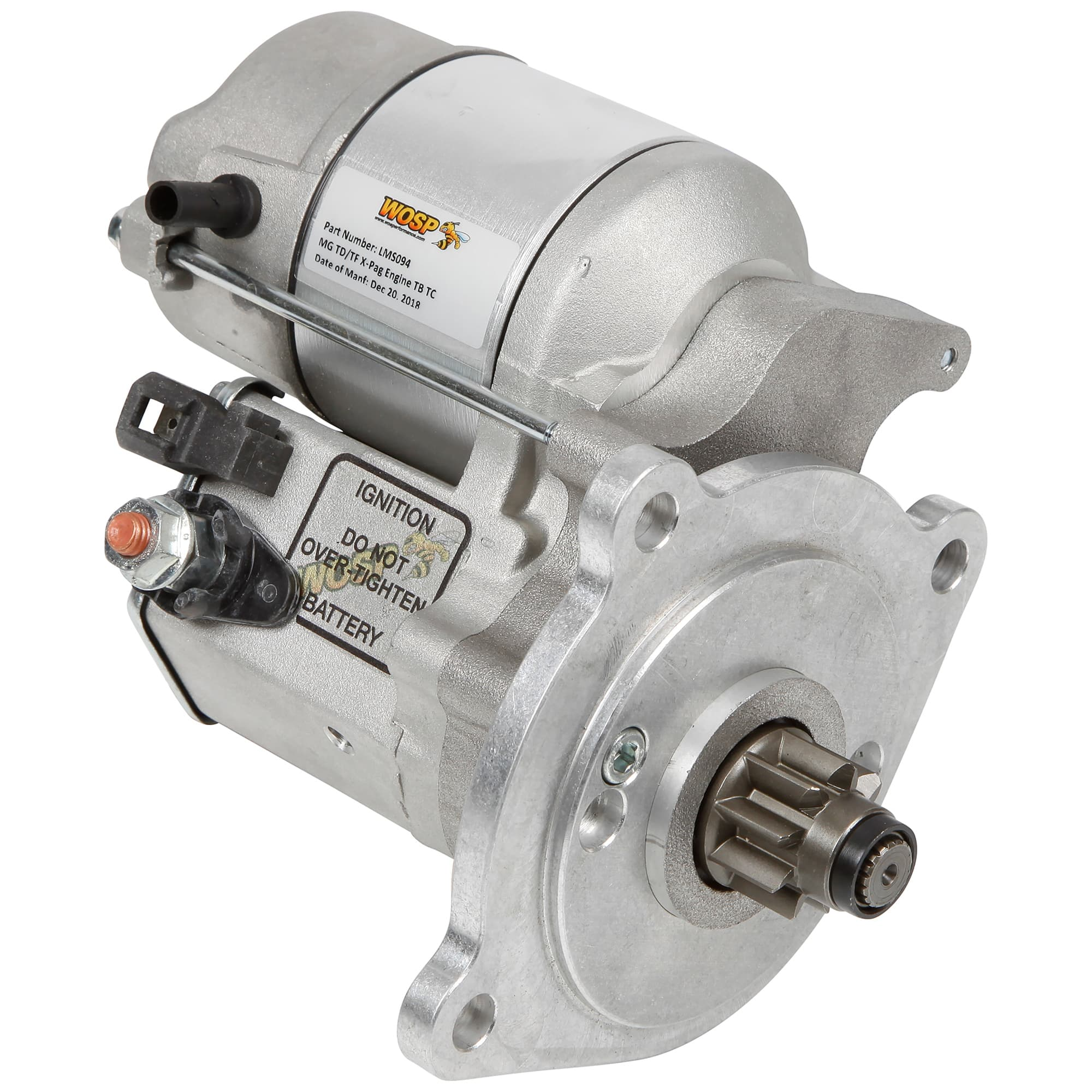 hight resolution of high torque starter by wosp performance