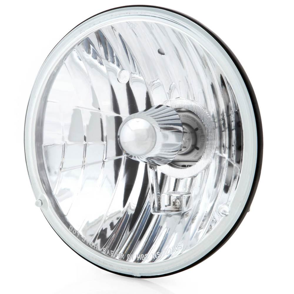 medium resolution of 7 inch crystal clear halogen headlight
