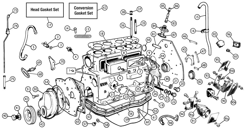 confused about side tappet cover bolts, washers : MGB & GT
