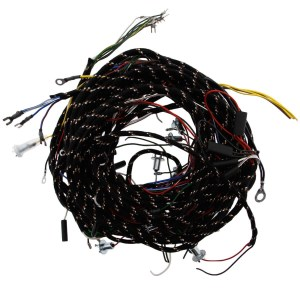 356170 WIRING HARNESS, fabric bound, PVC wires   Moss Motors