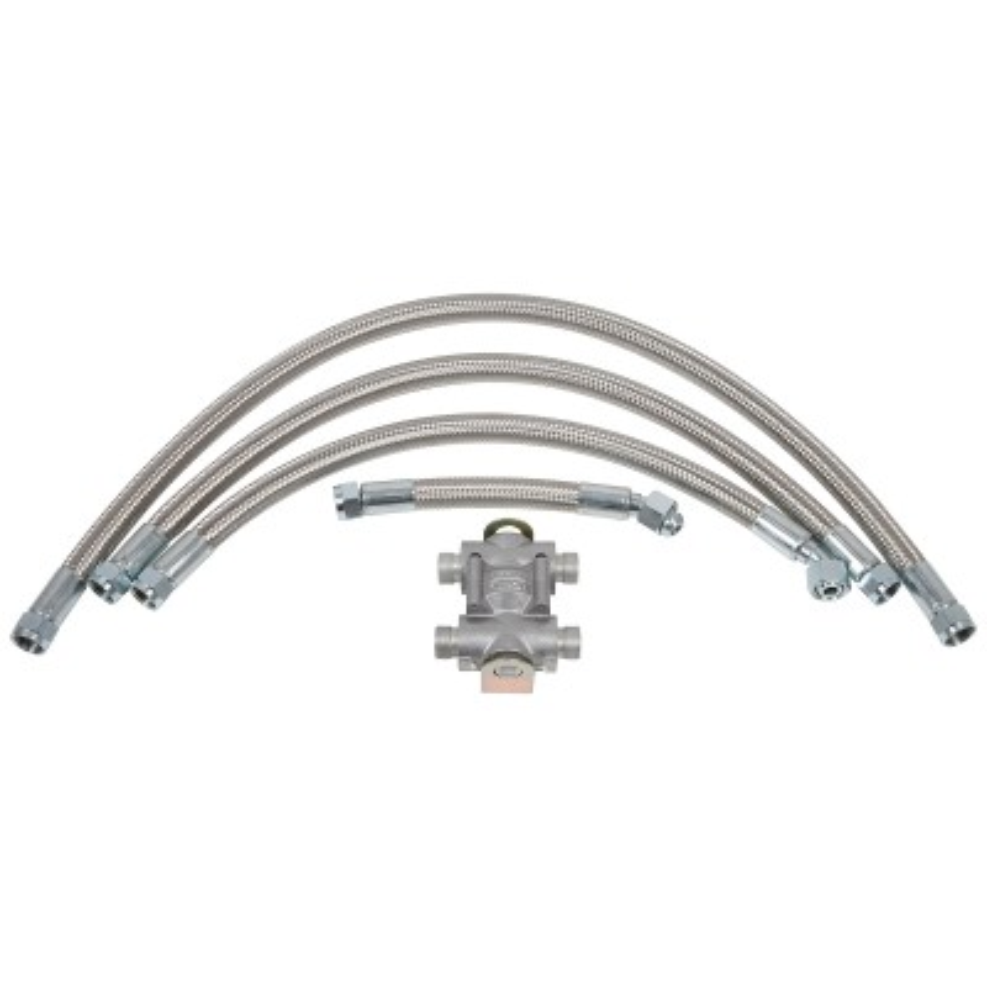 235-850 Oil Cooler Installation Kit, Stainless Steel hoses