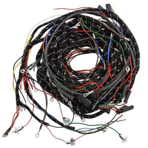 356180 WIRING HARNESS, fabric bound, PVC wires | Moss Motors