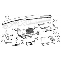 Dashboard parts and accessories for your MG Midget or